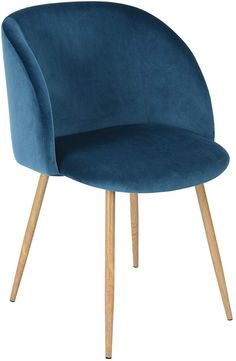 EGGREE Dining Chairs Vintage Velvet Armchairs Accent Chairs for Living Room Bedroom Kitchen, with Metal Chair Legs, Blue Armchairs And Accent Chairs, Accent Chairs For Living Room, Living Room Bedroom, Dining Chairs, Lounge, Velvet Armchair, Vintage Velvet, Metal Chairs, Modern Retro