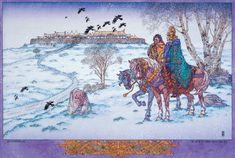 Celtic Irish Landscape Art Print  Oisin at by JimFitzPatrickArtist.