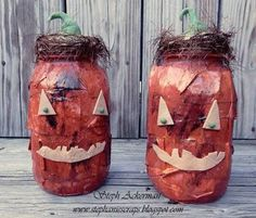 Makin's Clay® Blog: Jack-O-Lantern Jars by Steph Ackerman