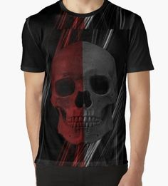 Graphic Mens tee Punk Skull
