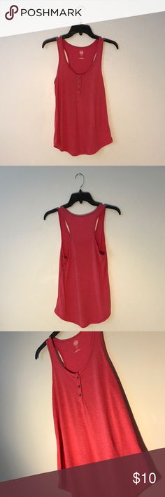 Pink Tanktop Pink tanktop with a button down on the front, NEVER WORN! Authentic American Heritage Tops Tank Tops