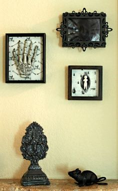 Dollar Store Crafts » Blog Archive » Make a Spooky Shadow Box Gallery Wall