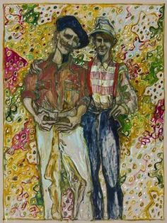 Billy Childish, 'father and son,' 2013, Carl Freedman Gallery