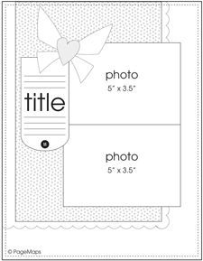 8.5 x 11 Scrapbook Sketches on Pinterest | 144 Pins