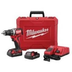 """1/2"""""""""""""""" Compact Brushless M18 Drill/Driver Kit"""