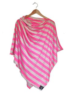 Neon+Pink+and+Gray+Nursing+Cover/+Modern+by+busyspinningthread,+$36.00