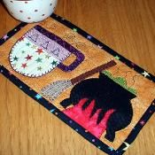 Witches Brew Halloween Mug Rug - via @Craftsy