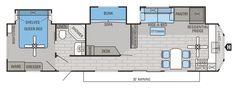 2016 Jay Flight Bungalow 40BHTS Floorplan