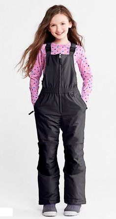 Girls'  Waterproof Squall Snow Bibs from Lands' End.  Swishing down the slopes or scooping up snowballs — our quality-made snow bibs are built to keep kids dry and toasty.  Get your rebate from RebateGiant.