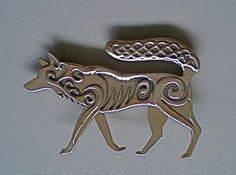 Celtic Wolf Brooch and Pendant in Bronze by MasterArks on Etsy, $49.00