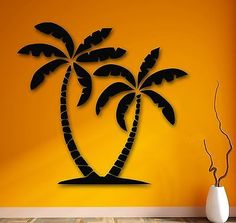 Wall Stickers Vinyl Decal Palm Desert Mirage Tropical Relax Decor (ig798)