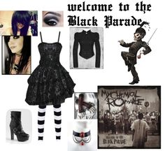 """""""Welcome to the Black Parade - My Chemical Romance"""" by gracetheleprechaun ❤ liked on Polyvore"""