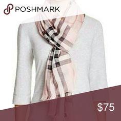 Amazing material giant blush pink fashion scarf An amazing giant pink scarf Accessories Scarves & Wraps