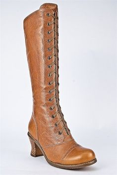 hot for granny    knee high lace up boots