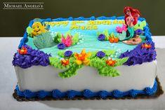 little mermaid sheet cake - Google Search