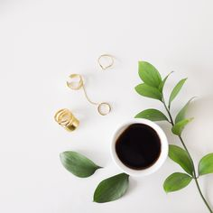 < minimalist > gold rings #fashioncoffee #coffeedential
