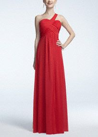 This elegant and sensational dress captures the overall look of whimsical movement and organic beauty.   One shoulder bodice features eye-catching pleated bodice detail.  Long and flowy sheer matte jersey skirtadds dimension and is super comfortable.  Fully lined. Back zip. Imported polyester. Professional spot clean. Available in Missy sizes as Style 54106.