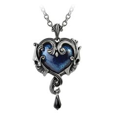 Get your Alchemy Gothic Affaire du Coeur skull heart pewter necklace pendant today at Purple Leopard Boutique. Free shipping in the USA.