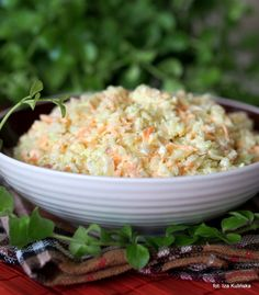 Coleslaw Salat, Snack Recipes, Cooking Recipes, Polish Recipes, Polish Food, Light Recipes, Kfc, Fried Rice, Soul Food