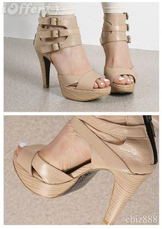 Triple Strap Platform Sandals - $40.99 (iOffer)