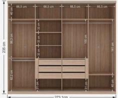 Standard Wardrobe Closet Design Guidelines - Engineering Discoveries Wardrobe Interior Design, Wardrobe Door Designs, Wardrobe Design Bedroom, Bedroom Furniture Design, Wardrobe Closet, Wardrobe Doors, Closet Designs, Closet Bedroom, Closet Layout