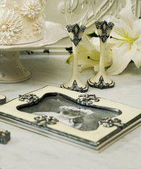 Decorative Fleur De Lis Guest Book
