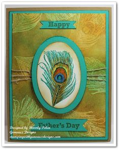 Color On Color Emboss Resist Technique - Fine Feathers by guneauxdesigns - Cards and Paper Crafts at Splitcoaststampers