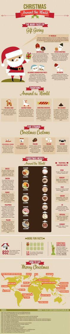 Christmas Traditions Around the World : Learn about the etiquette and traditions of the Christmas season that people from around the world love to keep up. Read about outstanding Christmas habits from Sweden, Venezuela, UK, Japan, Finland, Spain and many more. > http://infographicsmania.com/christmas-traditions-around-the-world/?utm_source=Pinterest&utm_medium=ZAKKAS&utm_campaign=SNAP