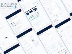 Lightning Design System Sketch UI Kit - Spring 17  by Myles Thompson #Design Popular #Dribbble #shots