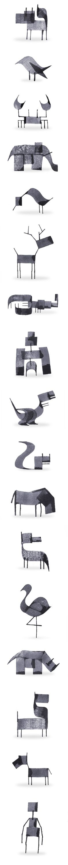 Minimalist Animals Brush Strokes Calligraphy based Illustration