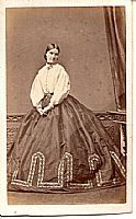 Civil War era clothing with white bodices
