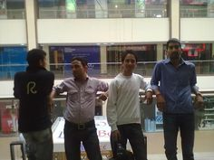 Me and My friends at- paras down town shoping mall(Zirkpur)