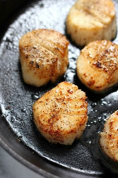 Perfectly Seared Scallops by Baker By Nature