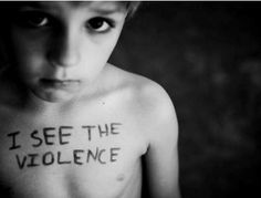 Children who witness domestic violence are more likely to become abusers when they grow up.
