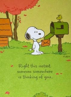 Snoopy & Woodstock and I are sending you this card to say 'Hello' and hope you are well!!!  LD.