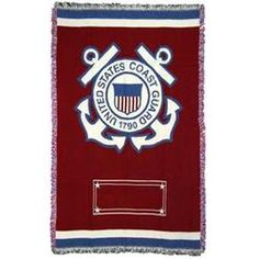 Personalized Coast Guard Logo Military Blanket Gift  $59.95