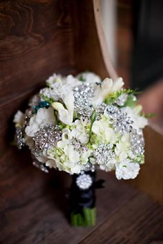 Wedding Brooch Bouquet by Joshua Grotheer Designs.
