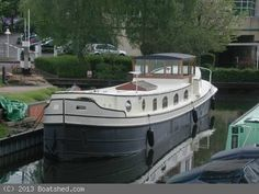 Bluewater Boats 70 Luxemotor Dutch Barge For Sale, 2006 Barge Boat, Canal Barge, Canal Boat, Floating House, Floating In Water, Barge Holidays, Barges For Sale, Liveaboard Boats, Dutch Barge