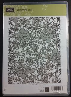 Stampin' Up! SOMETHING LACY Background Stamp RETIRED NEW #StampinUp #Background