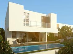 Maison d'architecte individuelle de 5 pièces offrant un intérieur lumineux et en harmonie avec l'extérieur par de grandes baies vitrées reliant la pièce à vivre à la piscine privée.          Cuisine ouverte est intégralement équipée    4 chambres dont une ...