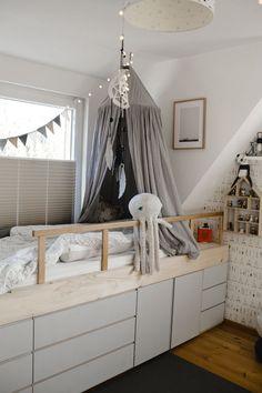 DIY Schrankbett mit IVAR – sanvie mini Baby Room Design, Baby Room Decor, Room Decor Bedroom, Kids Bedroom Designs, Baby Room Ideas Early Years, Baby Room Neutral, Baby Boy Rooms, My New Room, Room Inspiration