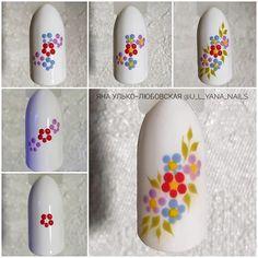 Nail Art Hacks, Gel Nail Art, Nail Art Diy, Nail Art Designs Videos, Toe Nail Designs, Diy Nails Cute, Peacock Nail Art, Ladybug Nails, Sunflower Nail Art