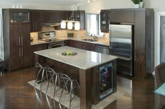 types of kitchen countertops: kitchen countertop ideas on a budget with pictures, granite materials decorating ideas,quartz kitchen countertop options. Types Of Kitchen Countertops, Painting Kitchen Countertops, Cute Kitchen, Kitchen Reno, Kitchen Remodel, Kitchen Tiles Design, Modern Kitchen Design, Kitchen Designs, Interior Design Living Room