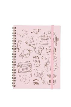 A must have for all stationery buffs! <br> Our spinout notebooks are available in a range of seasonal prints and designs, these are our signature stationery essentials with a print to suit everyone. <br> Details: <br> Dimensions: 8inches x 6inches <br> Material: Paper inserts with wire spiral spine <br> Features: Flexi hard cover-120 Lined Pages <br/>