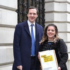 Look who we met on way into Downing St to deliver #StoppingTheClock petition. Thanks for saying hi George Osborne by cftrustuk
