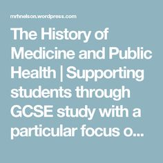 The History of Medicine and Public Health | Supporting students through GCSE study with a particular focus on Edexcel Syllabus B | Page 2