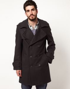 Gloverall Peacoat in Melton Wool.