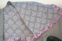 Deluxe Pink Damask and Light Pink Smooth by DesignsbyChristyS, $65.00