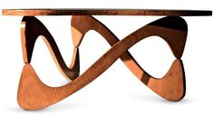 Mobiliário Moderno Nacional Móvel: Mesa de centro Designer(s): Zanini Caldas Ano: 1950 Características: Uso de madeira nacional; simplicidade construtiva; linhas curvas; estrutura aparente.