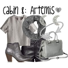 """Cabin 8: Artemis -- Percy Jackson & the Olympians"" by evil-laugh on Polyvore"